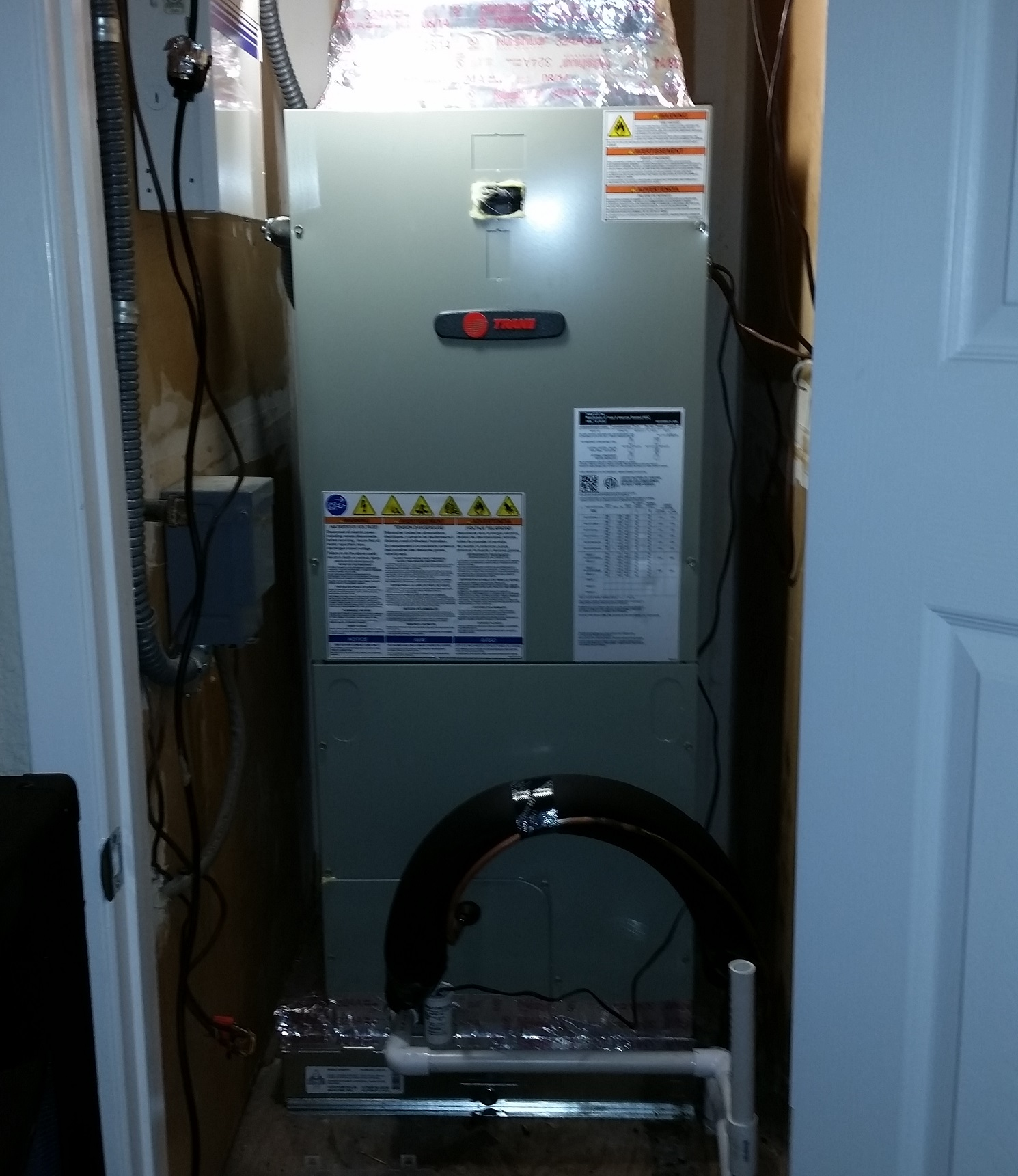 The plenum is the ducted section that run from your furnace or air handler that runs to the duct work