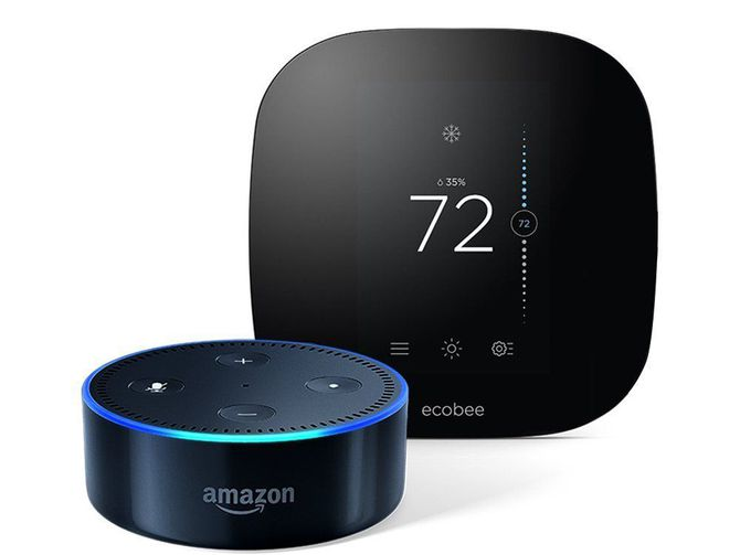 Echo Dot, thermosat, Nest, Honeywell, Ecobee, American Standard, Carrier, voice controlled smart home
